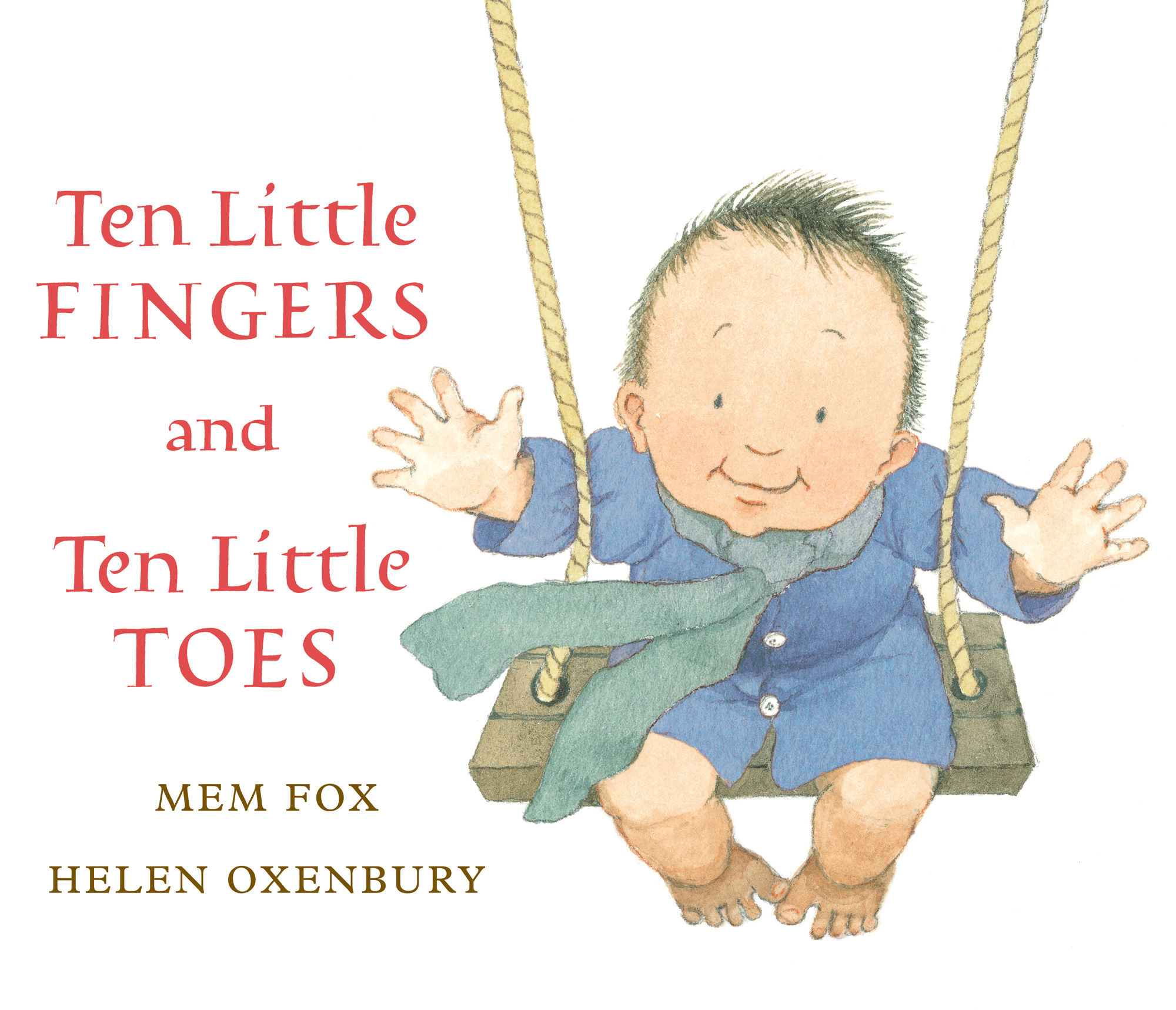 Ten Little Fingers and Ten Little Toes lap board book-9780547581033