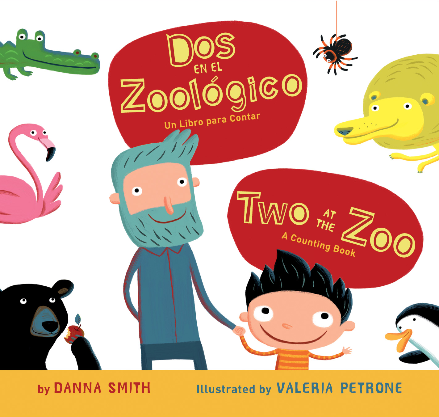Dos en el zoologico/Two at the Zoo bilingual board book-9780547581378