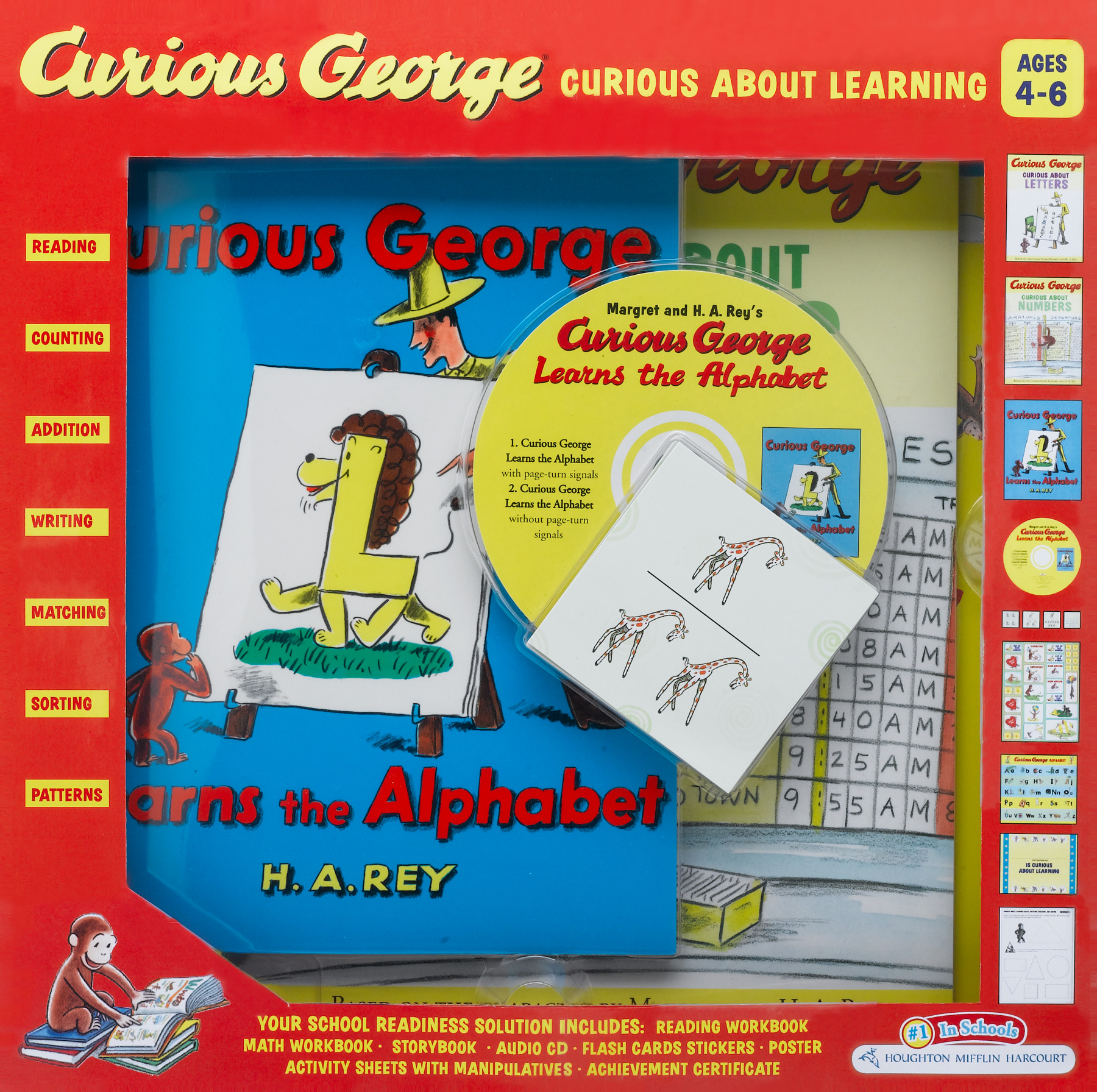 Curious George Curious About Learning Boxed Set-9780547582092