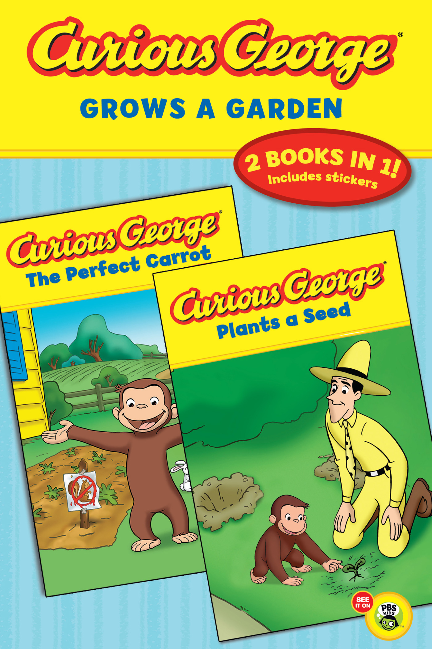 Curious George Grows a Garden (CGTV Double Reader)-9780547643045