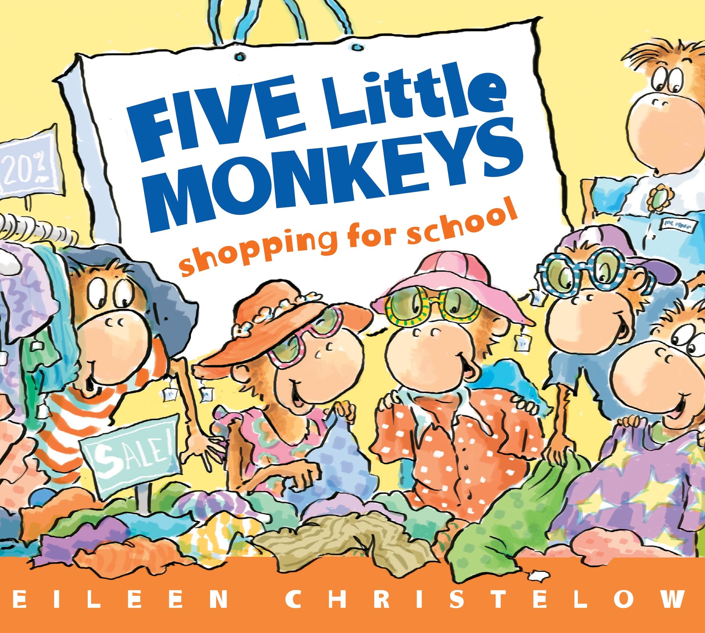 Five Little Monkeys Shopping for School-9780547744513
