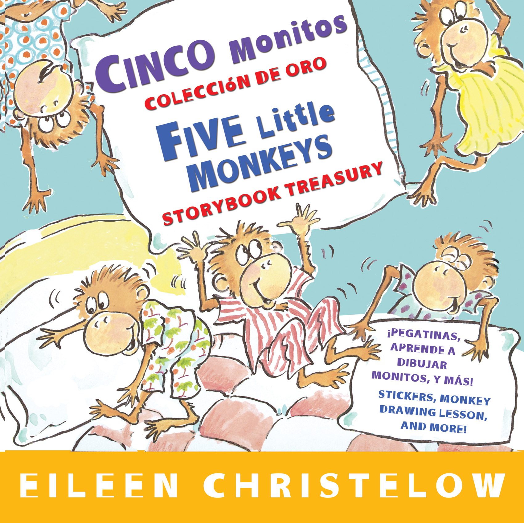 Cinco monitos Coleccion de oro/Five Little Monkeys Storybook Treasury-9780547745930