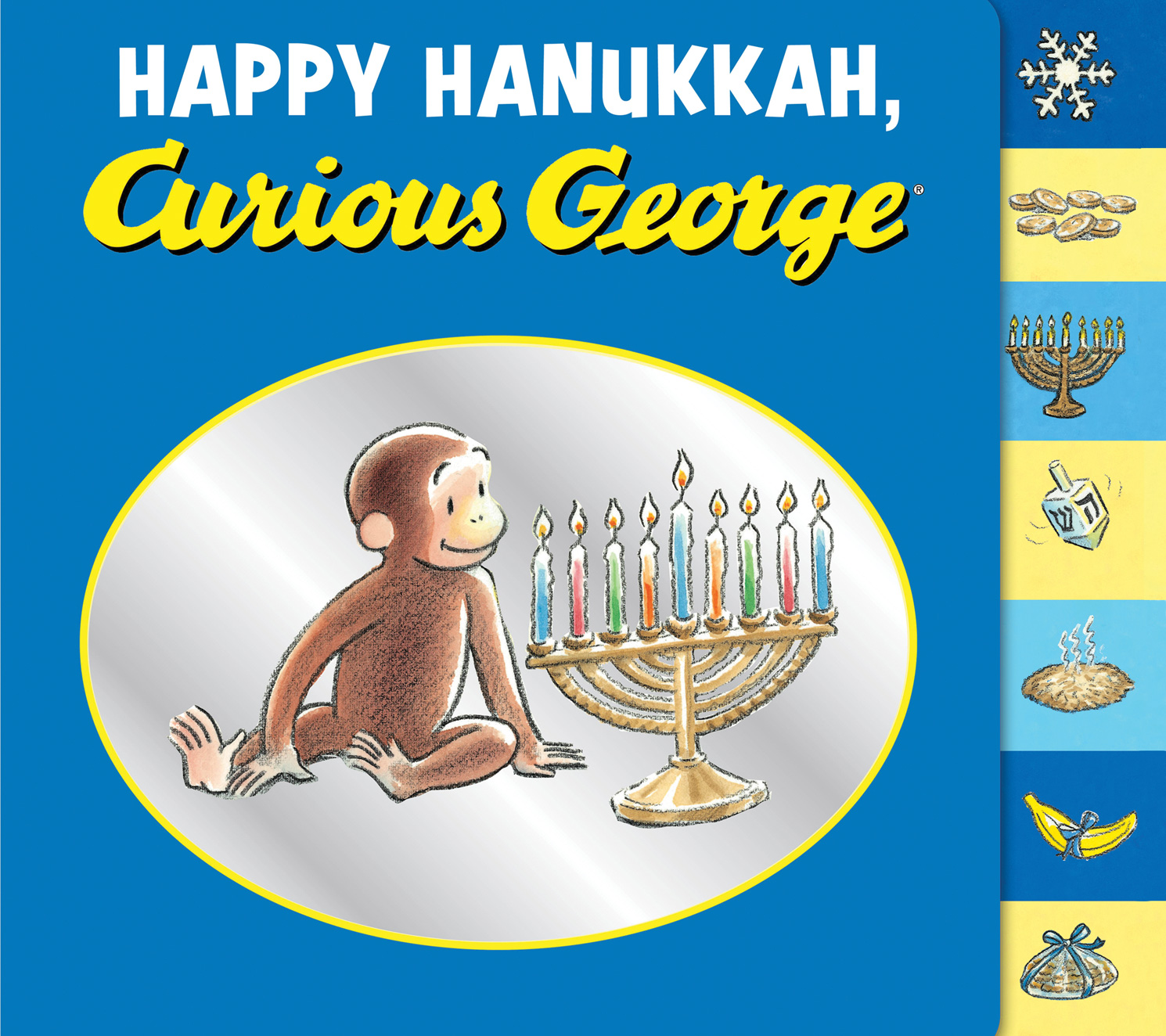 Happy Hanukkah, Curious George tabbed board book-9780547757315