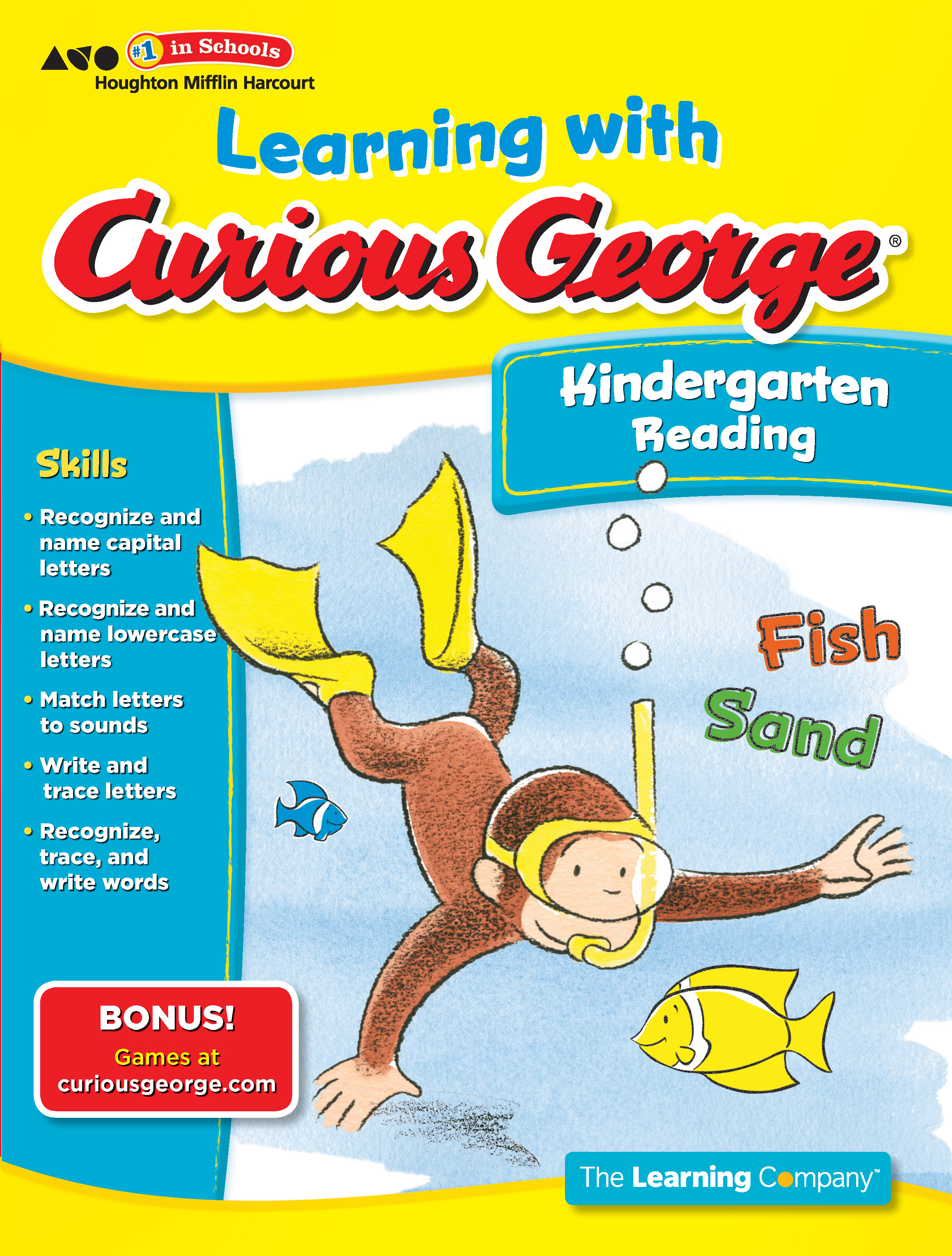 Learning with Curious George Kindergarten Reading-9780547790961