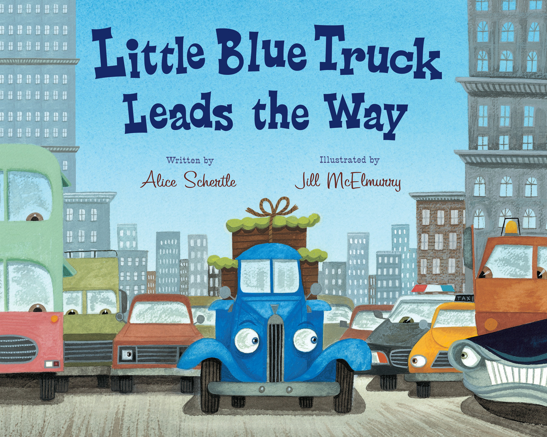 Little Blue Truck Leads the Way big book-9780547850603
