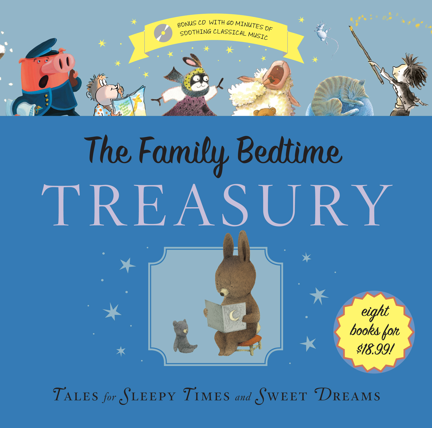The Family Bedtime Treasury with CD-9780547857862