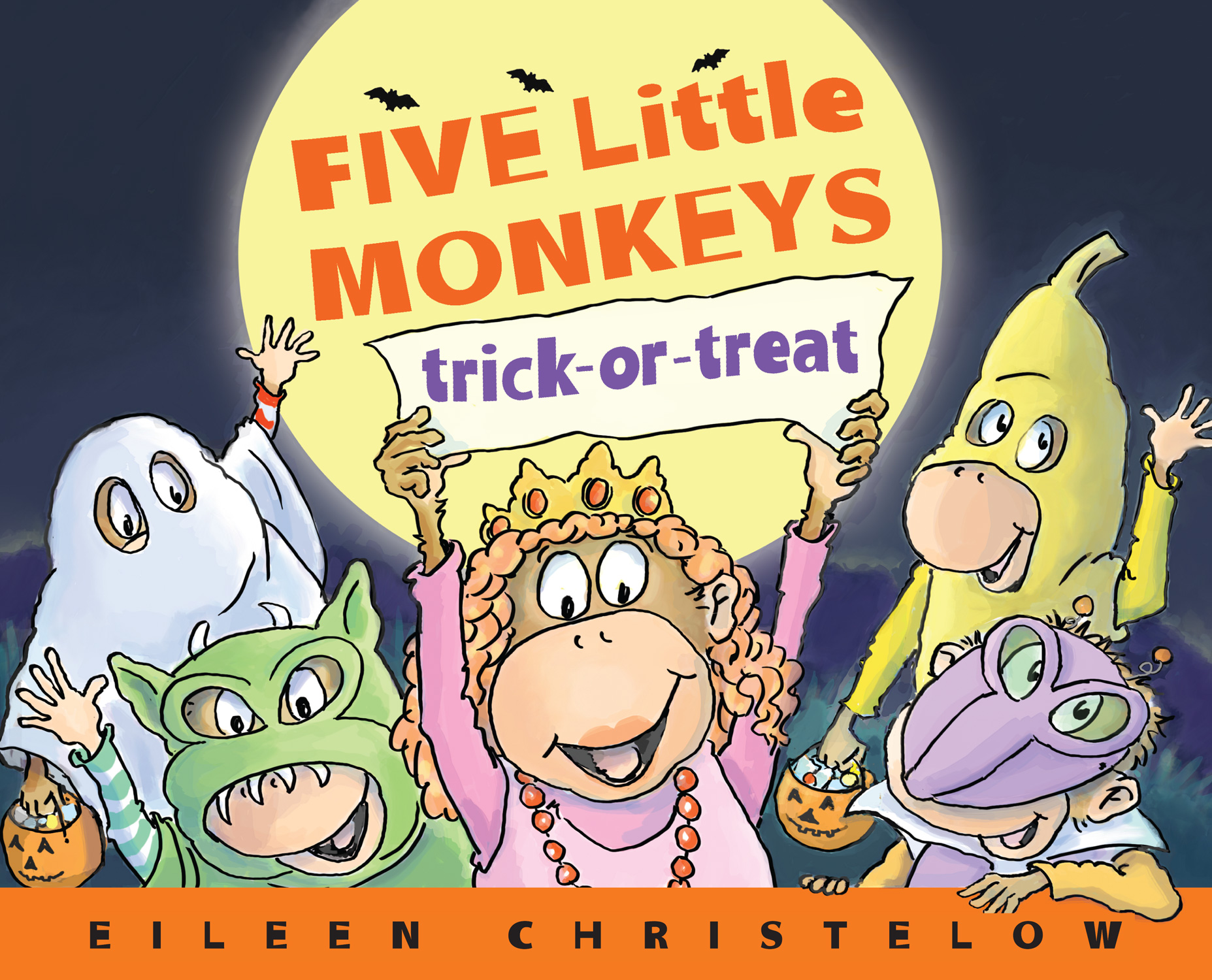 Five Little Monkeys Trick-or-Treat-9780547858937