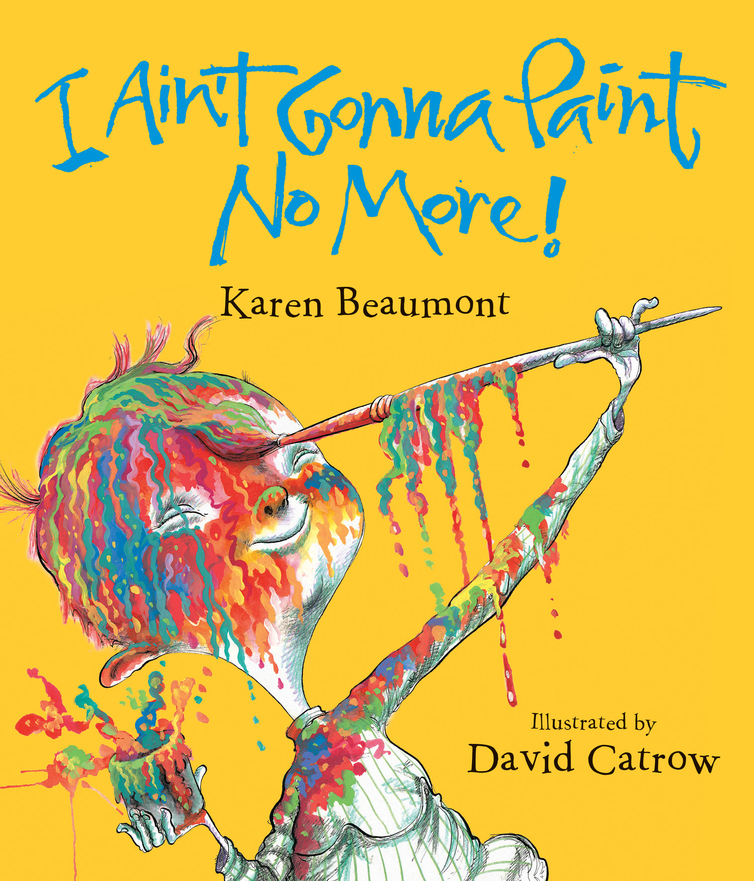 I Ain't Gonna Paint No More! lap board book-9780547870359