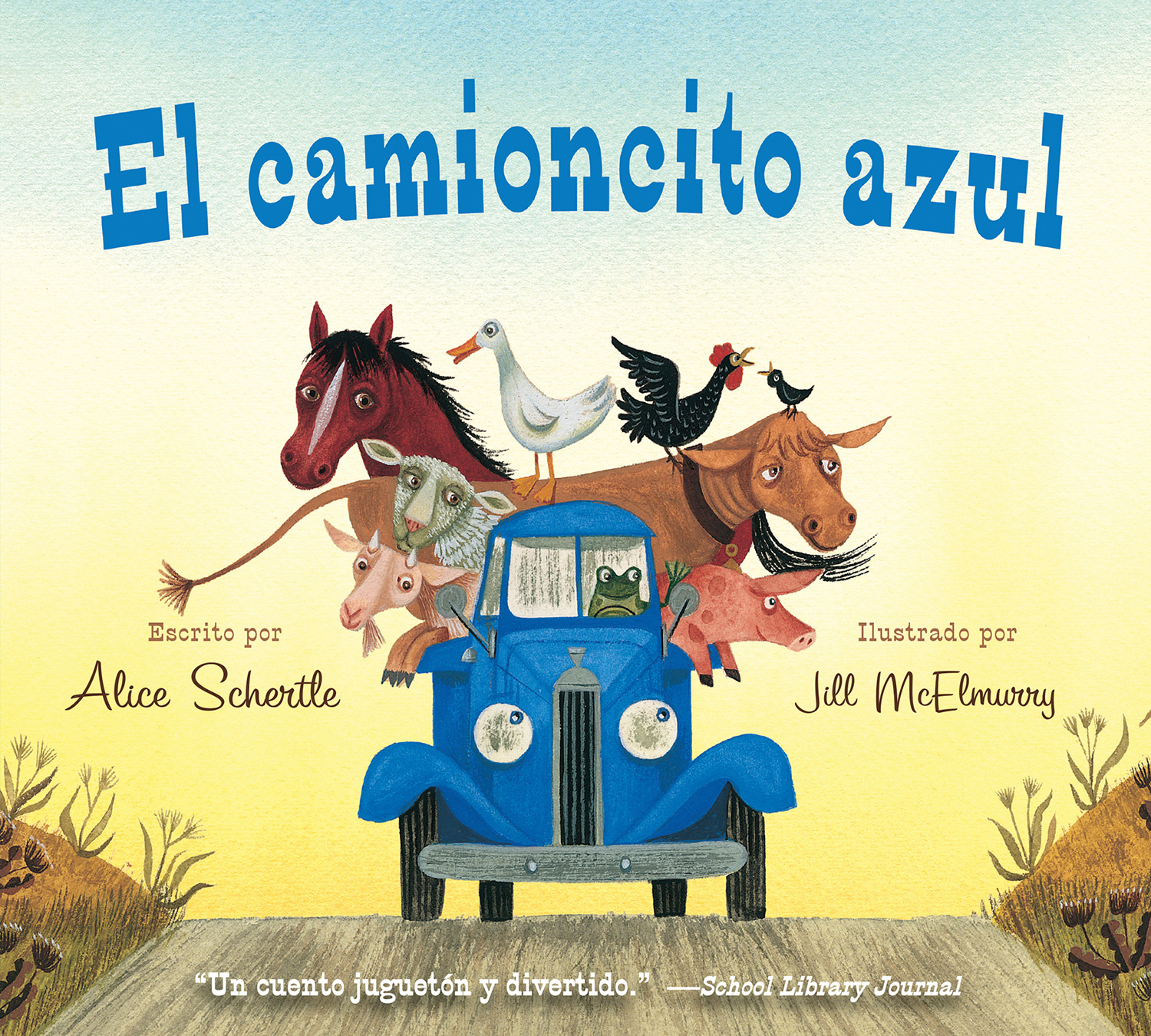 El camioncito Azul (Little Blue Truck, Spanish Edition)-9780547983974