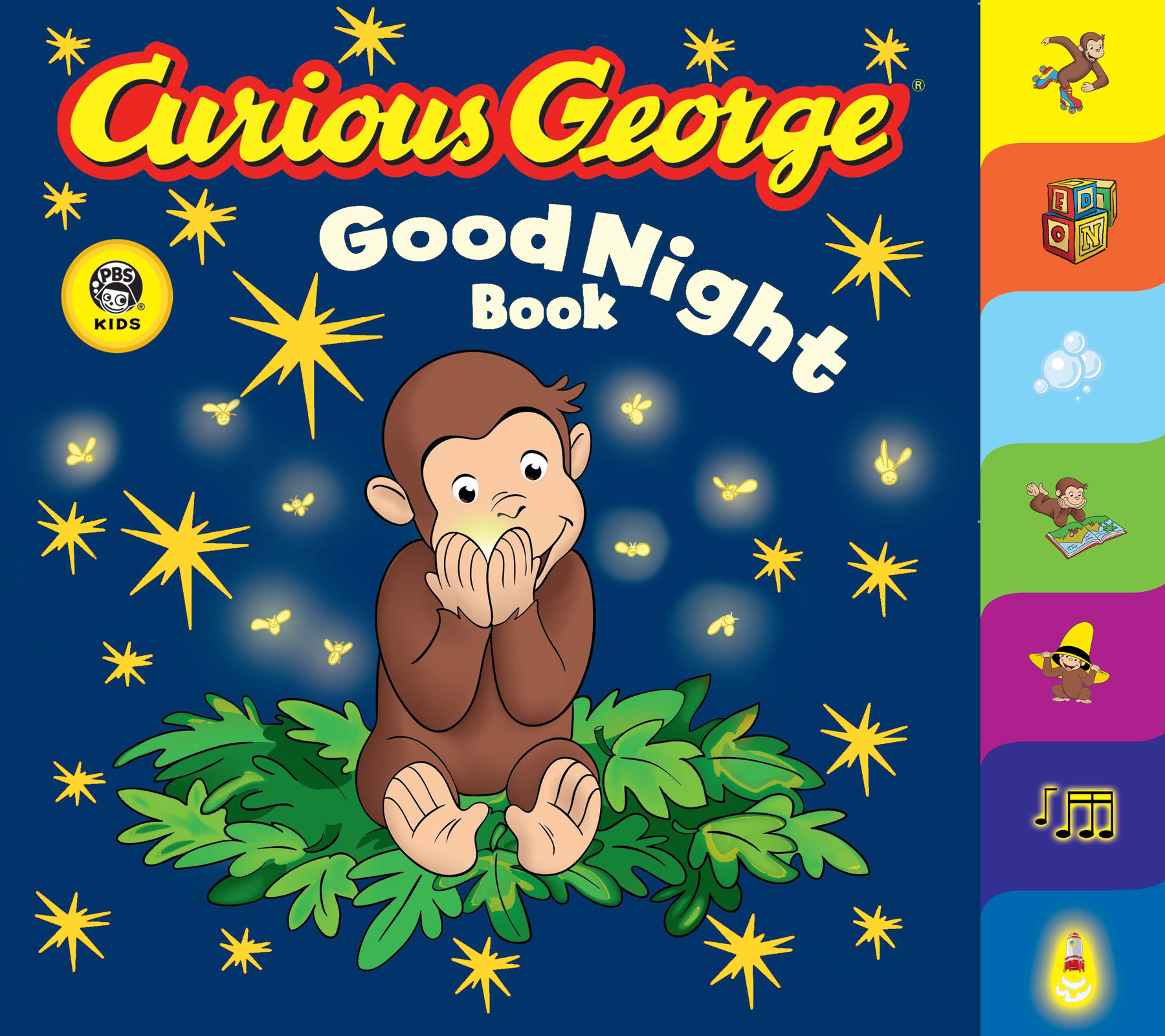 Curious George Good Night Book (CGTV Tabbed Board Book)-9780618777112