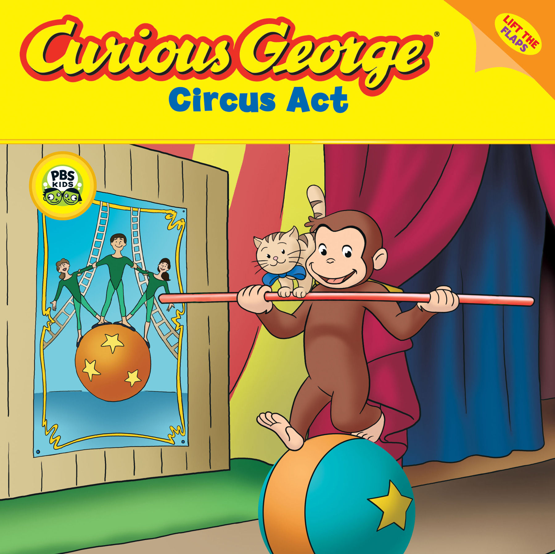 Curious George Circus Act (CGTV Lift-the-flap 8x8)-9780618999095