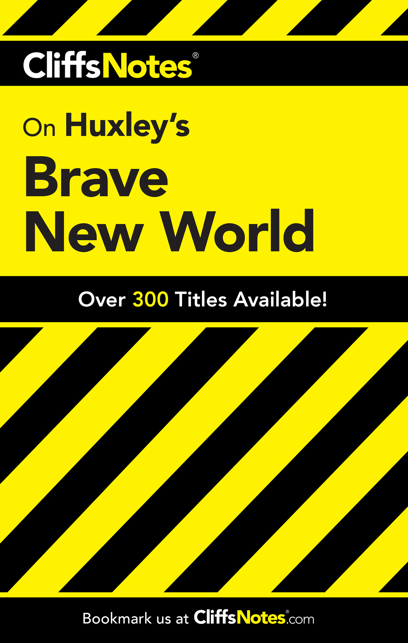 CliffsNotes on Huxley's Brave New World-9780764585838