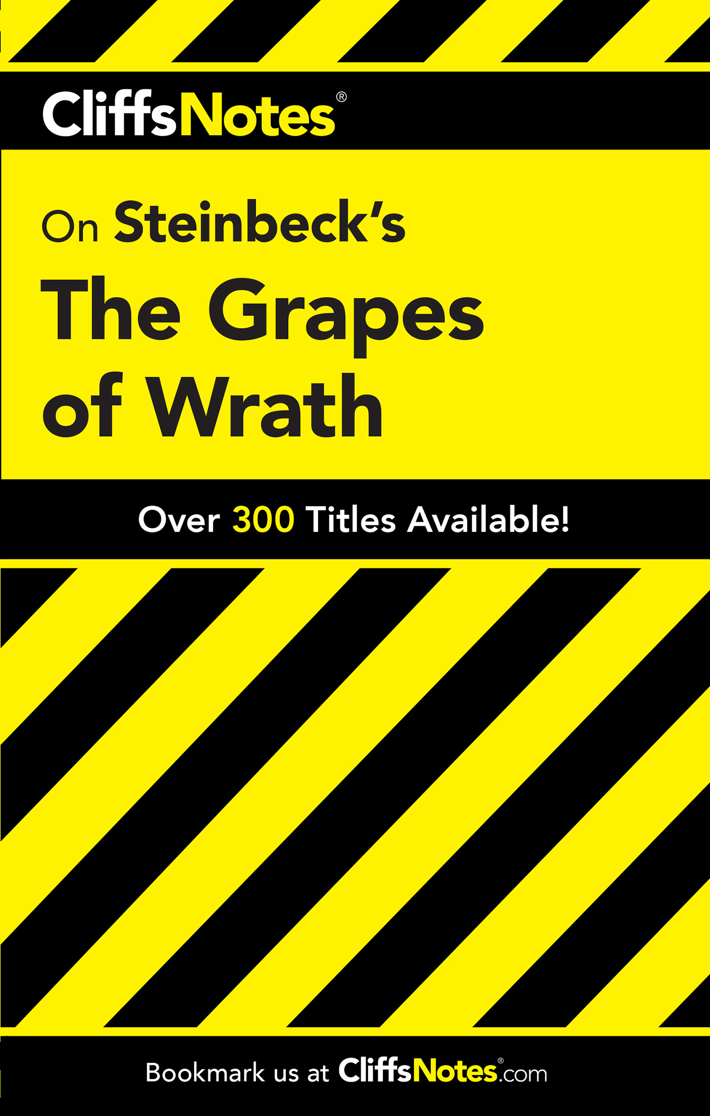 CliffsNotes on Steinbeck's The Grapes of Wrath-9780764585968