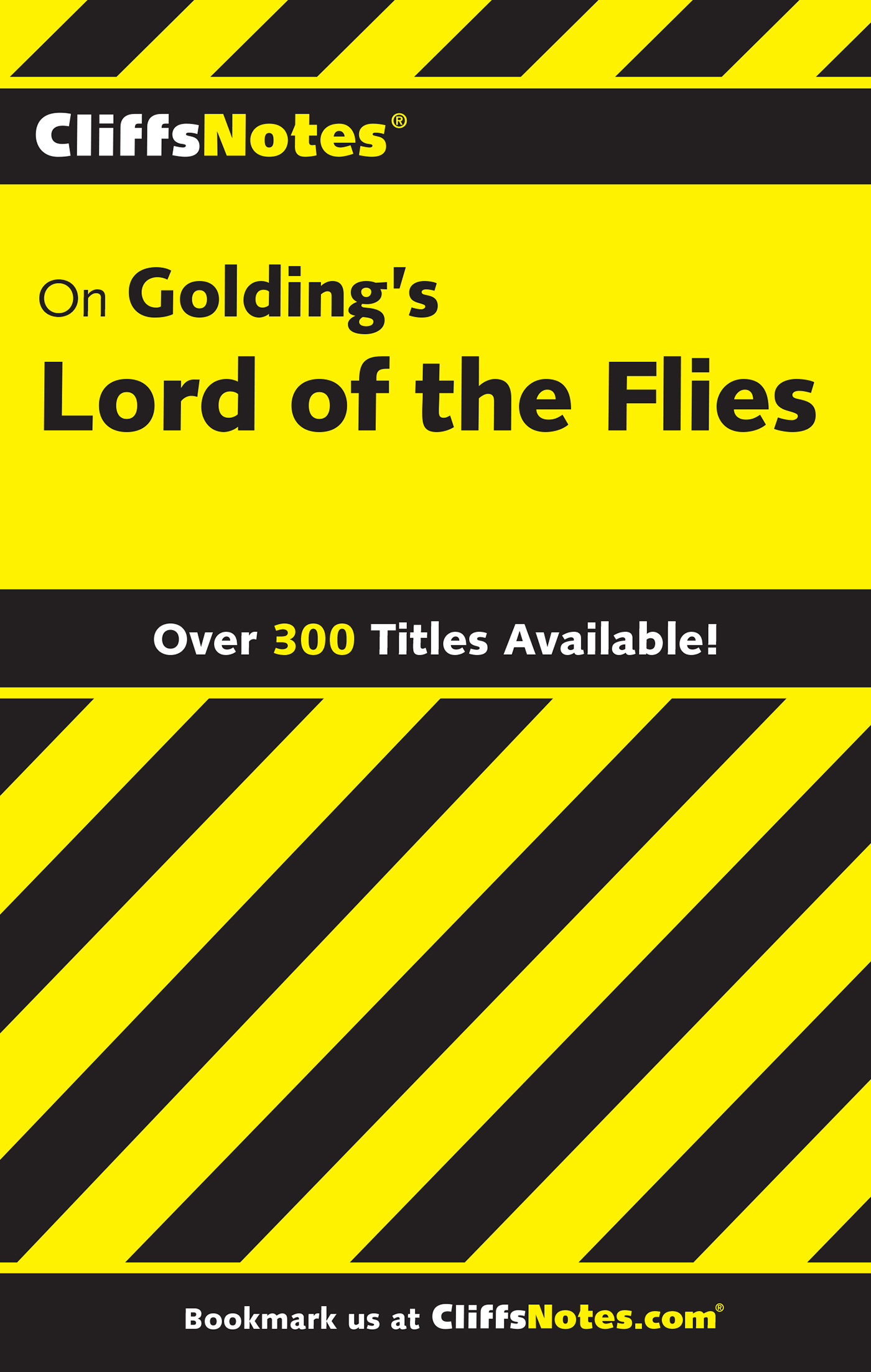 CliffsNotes on Golding's Lord of the Flies-9780764585975