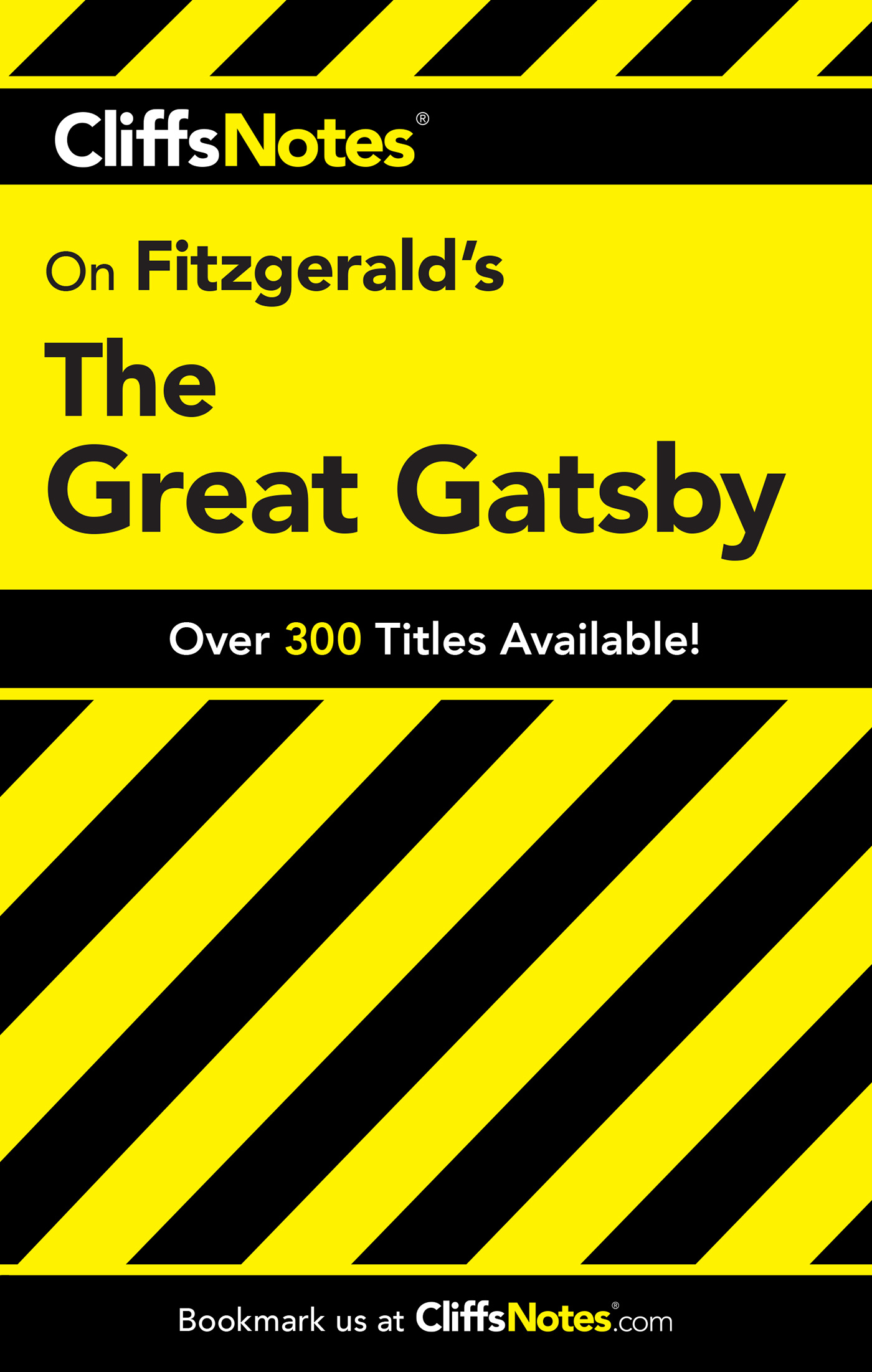 CliffsNotes on Fitzgerald's The Great Gatsby-9780764586019