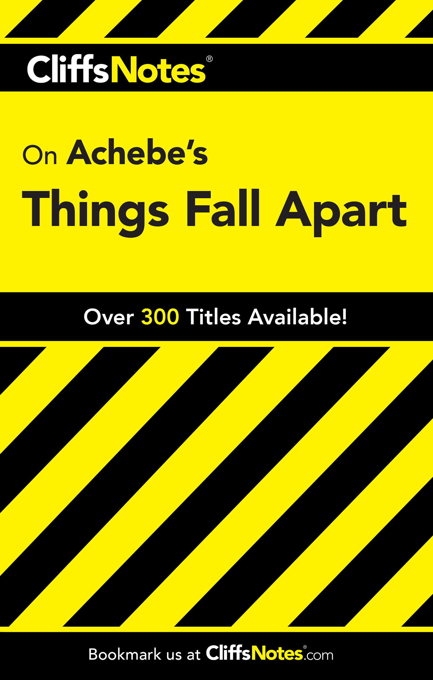 CliffsNotes on Achebe's Things Fall Apart-9780764586477