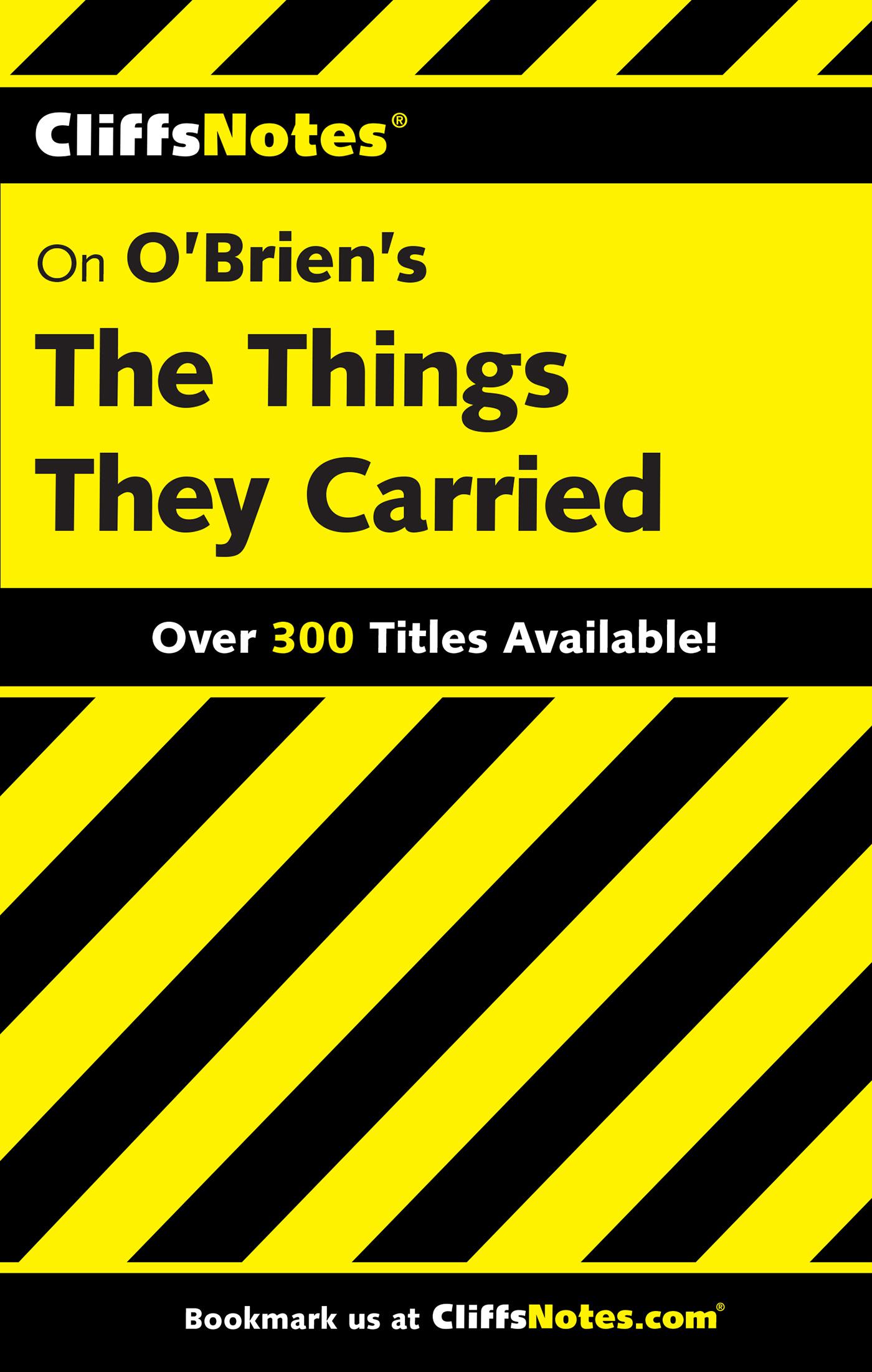 CliffsNotes on O'Brien's The Things They Carried-9780764586682