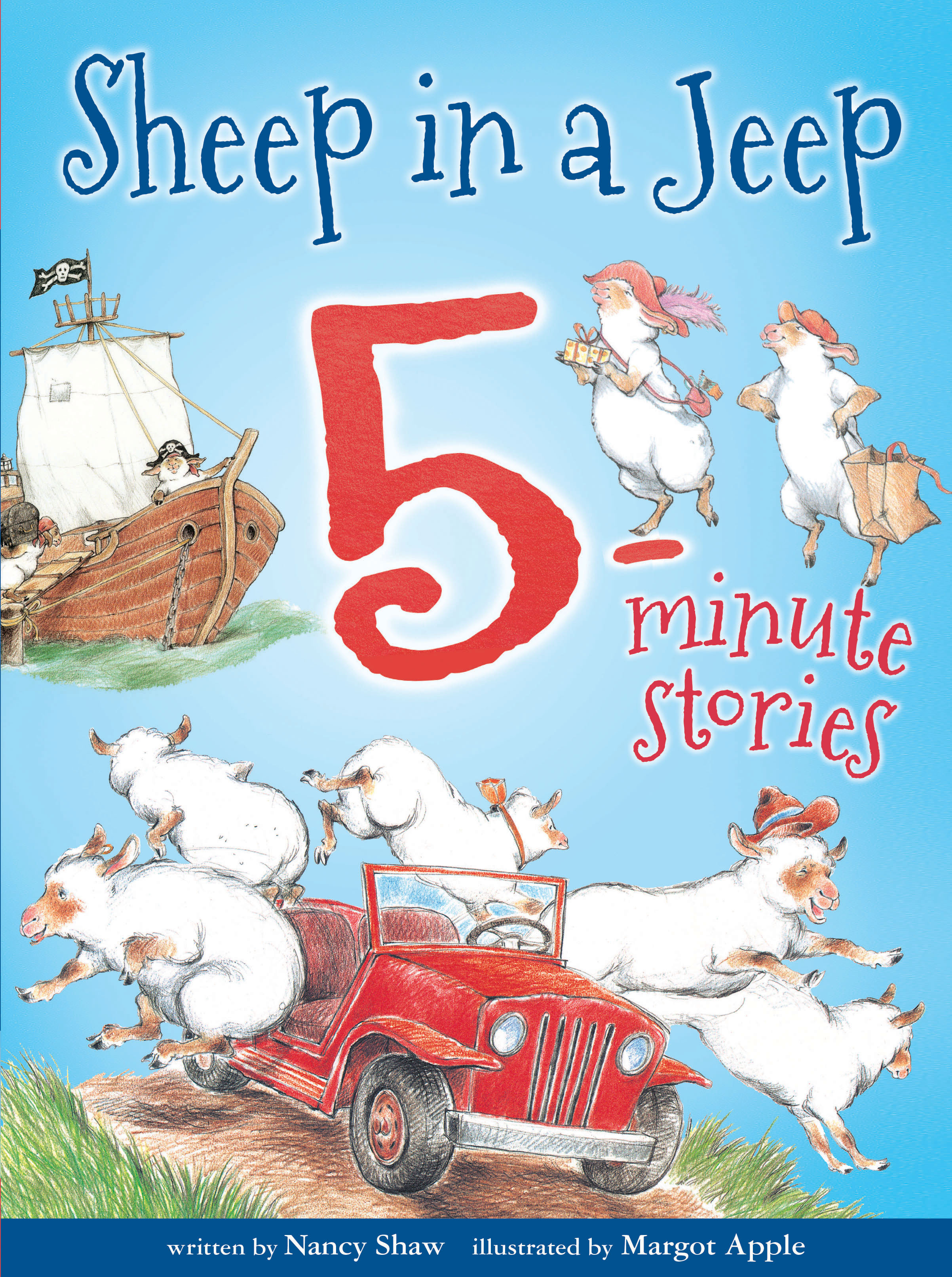 Sheep in a Jeep 5-Minute Stories-9781328566744