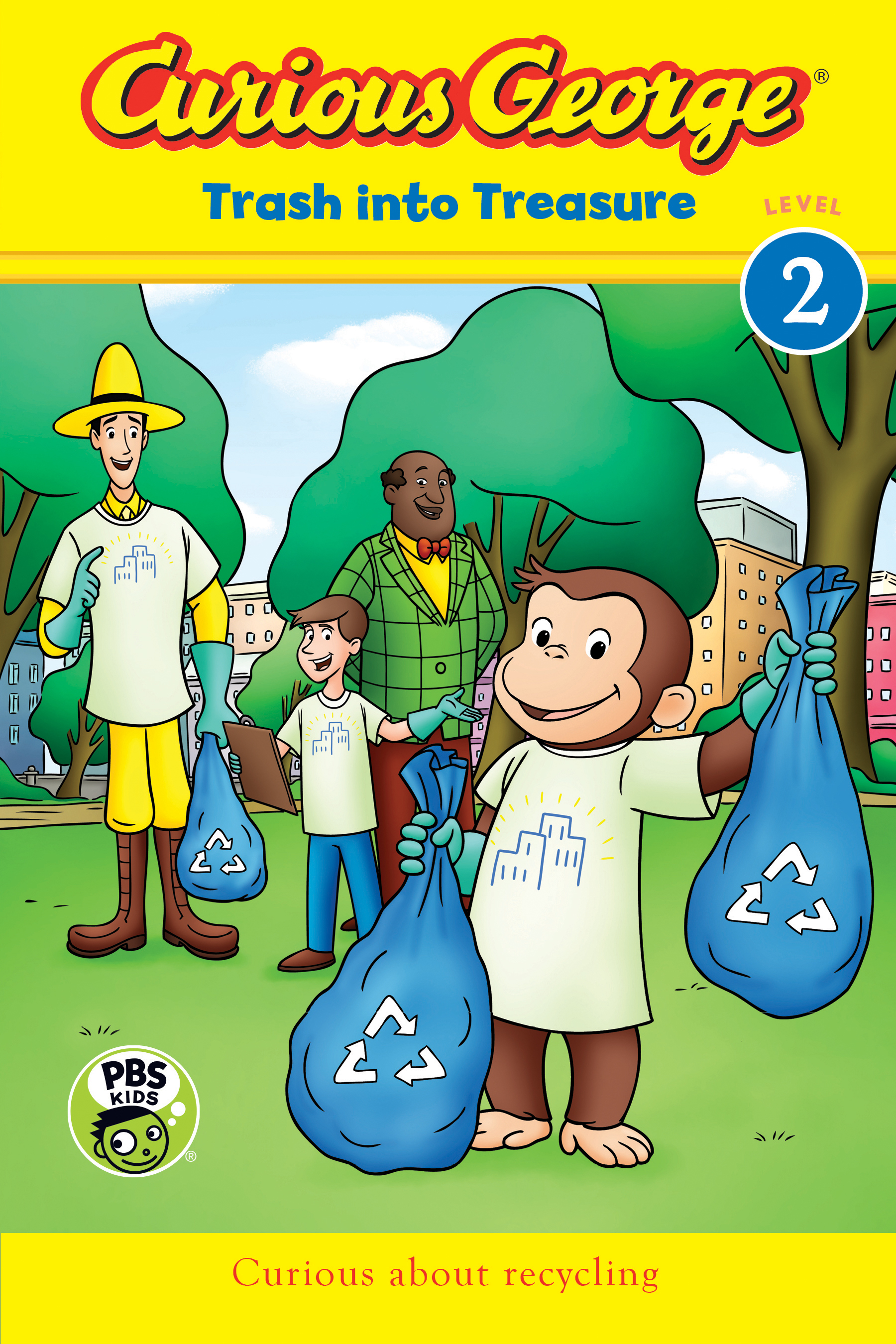 Curious George: Trash into Treasure (CGTV Reader)-9781328577467