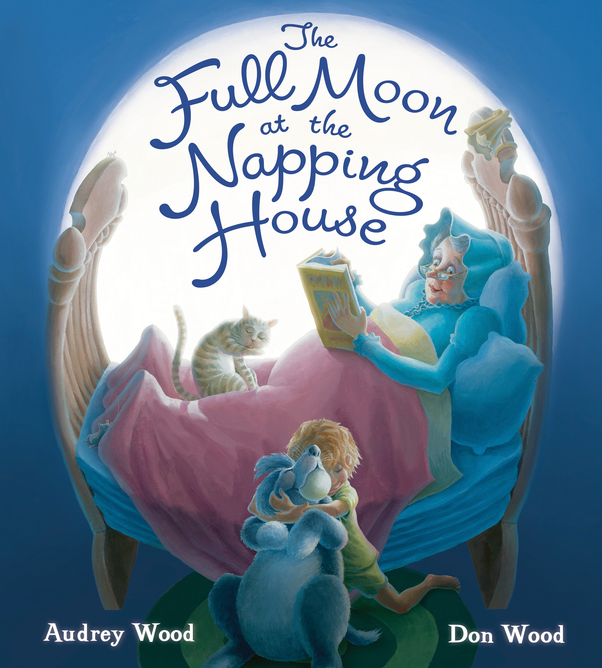 The Full Moon at the Napping House (padded board book)-9781328585158