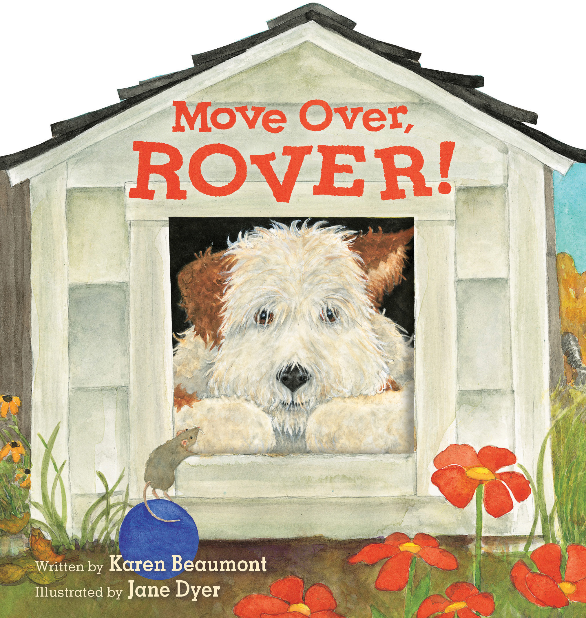 Move Over, Rover! (shaped board book)-9781328606358