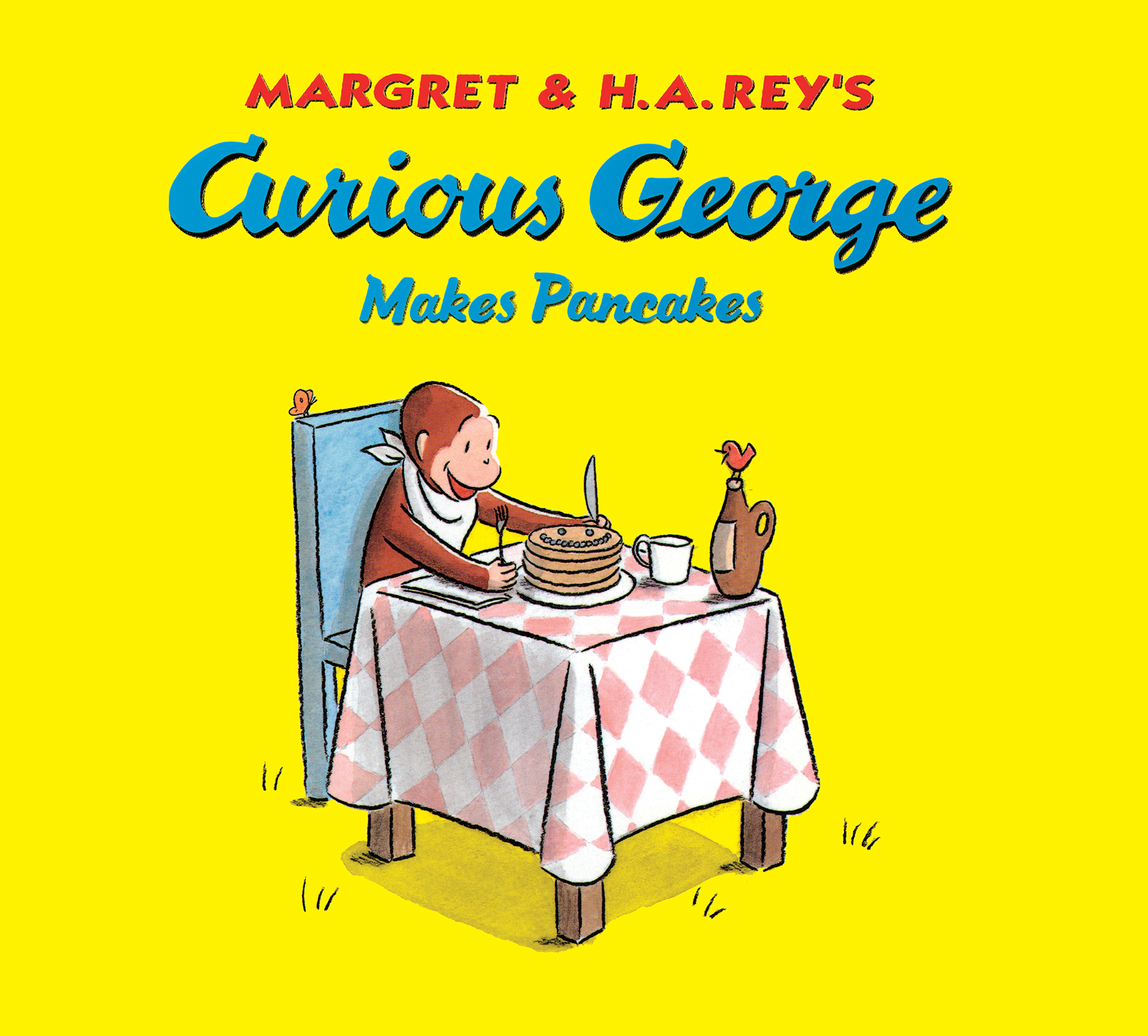 Curious George Makes Pancakes (lap board book)-9781328764614