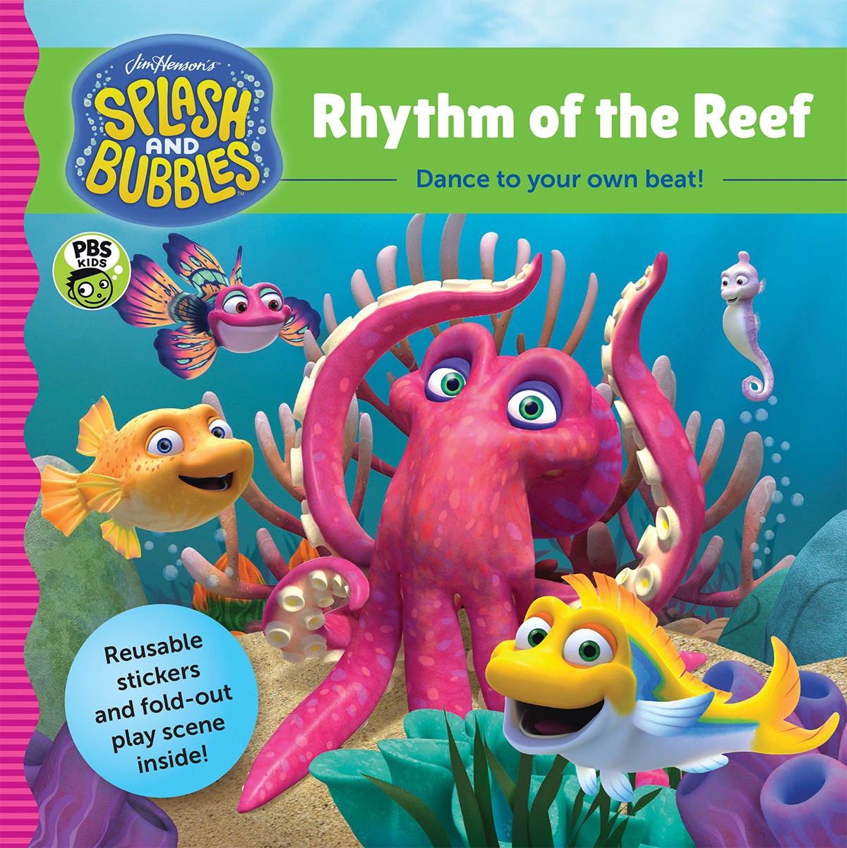 Splash and Bubbles: Rhythm of the Reef with sticker play scene-9781328852786