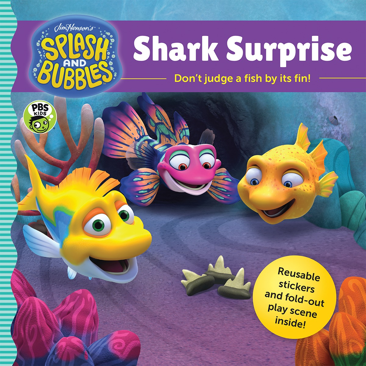 Splash and Bubbles: Shark Surprise with sticker play scene-9781328852809