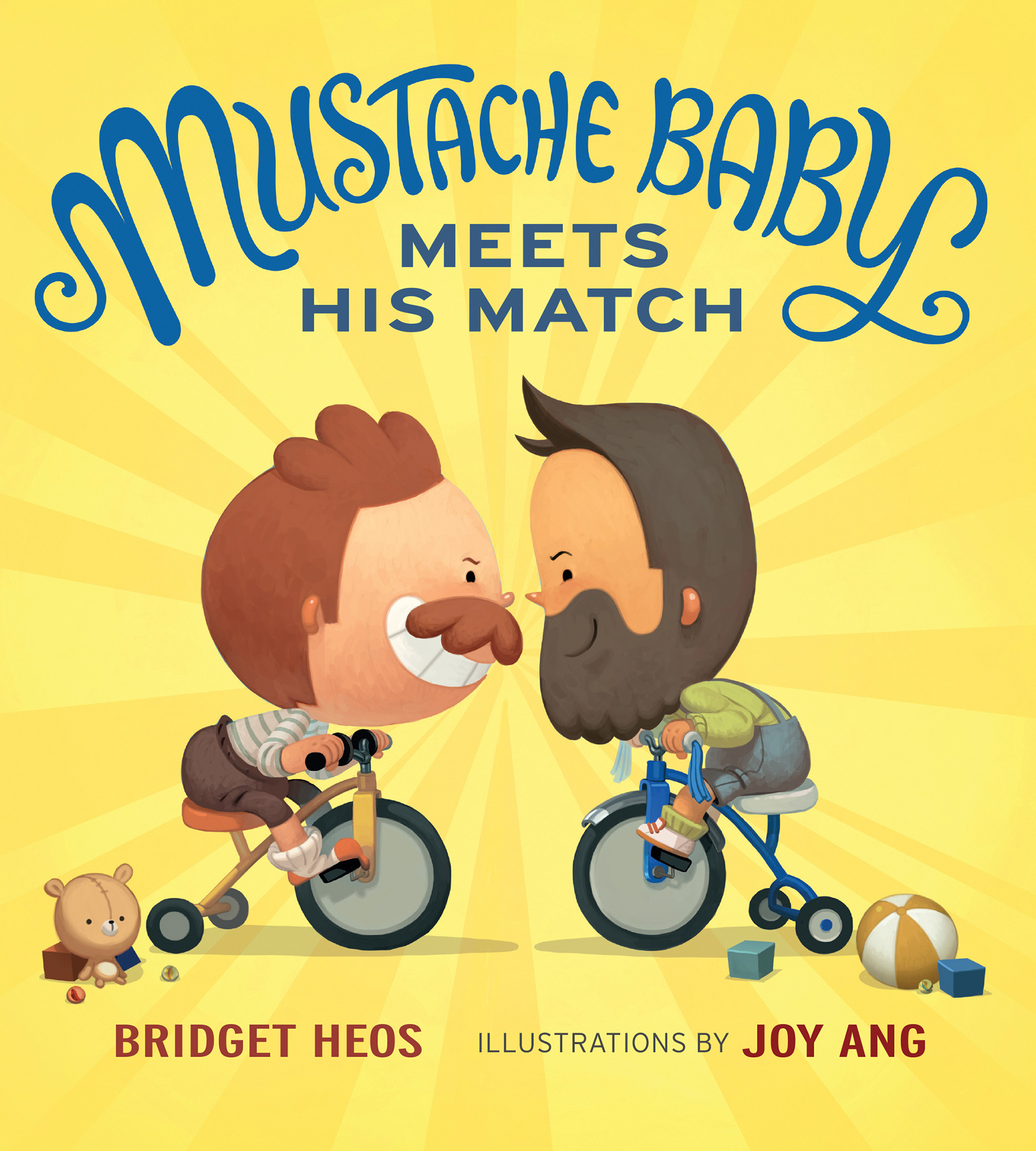 Mustache Baby Meets His Match (board book)-9781328866530