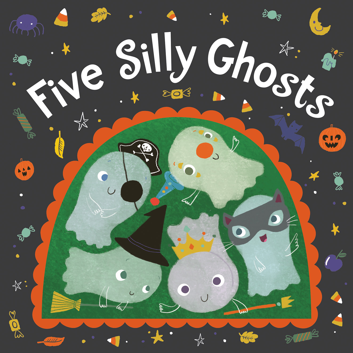 Five Silly Ghosts (board book)-9781328866592