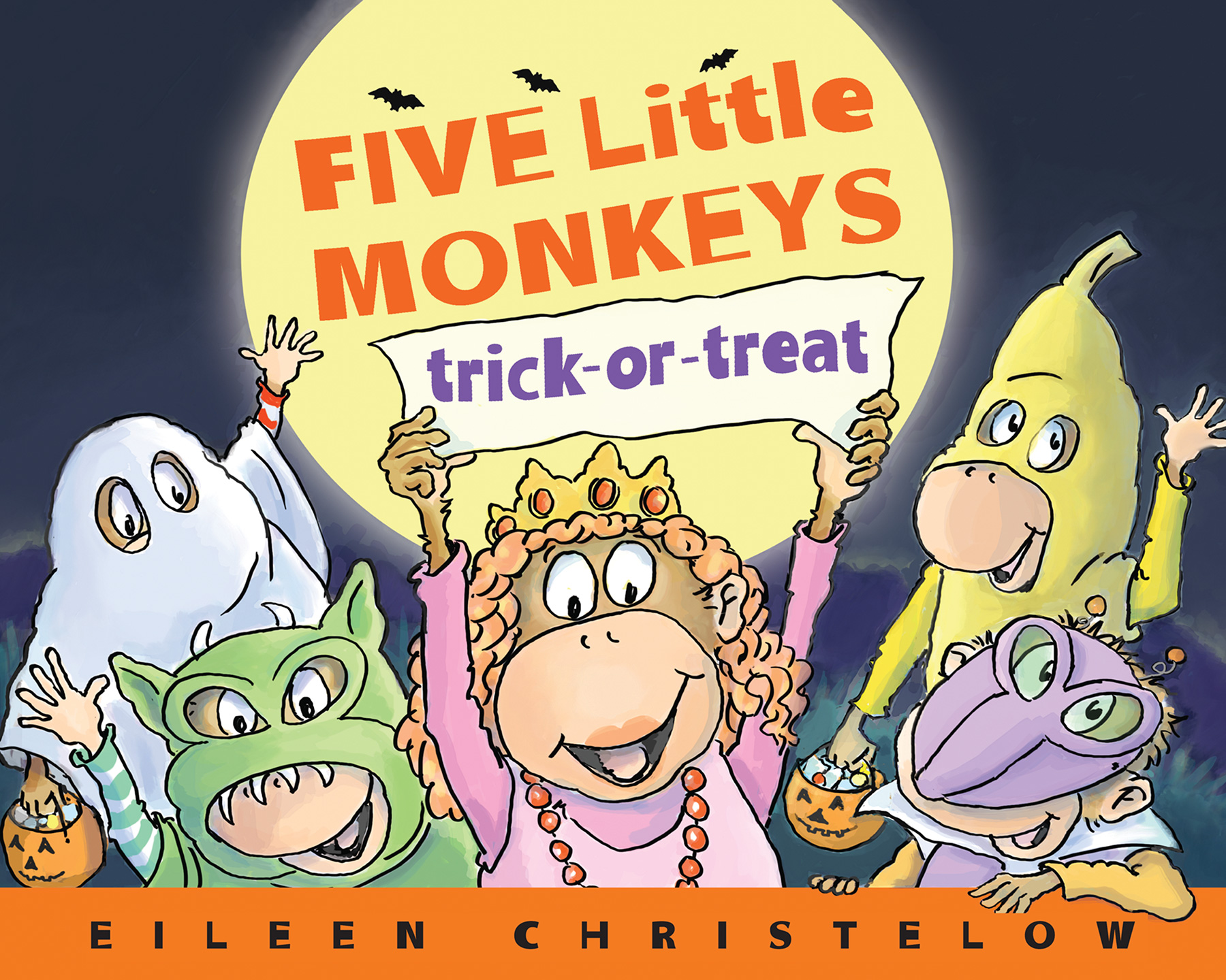 Five Little Monkeys Trick-or-Treat-9781328869272