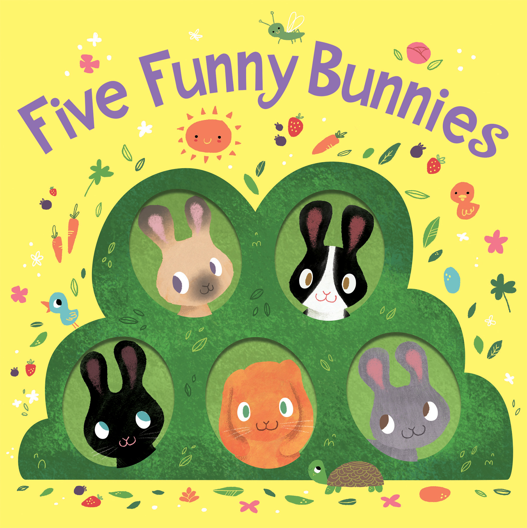 Five Funny Bunnies (board book)-9781328966032
