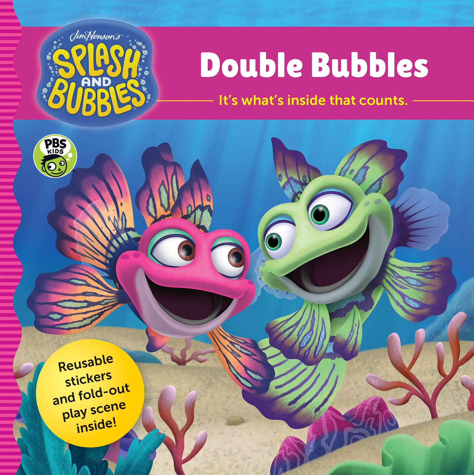 Splash and Bubbles: Double Bubbles with sticker play scene-9781328973443
