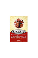 Screening Assessment for Gifted Elementary and Middle School Students (SAGES-2)  4-8 Language Arts/Social Studies Student Response Books Package of 10-1473793