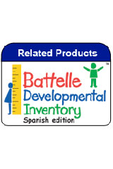 Battelle Developmental Inventory-Spanish (BDI-2 Spanish)  Complete Kit with Manipulatives-9781328831132