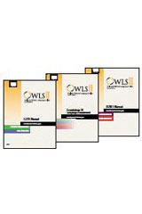 Oral and Written Language Scales (OWLS-II) Comprehensive Hand-Scored Kit