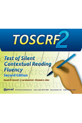 Test of Silent Contextual Reading Fluency (TOSCRF-2) Student Record Forms D, Package of 25