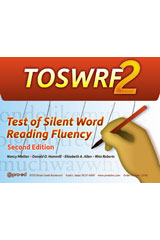 Test of Silent Word Reading Fluency (TOSWRF-2) Student Record Forms A, Package of 25
