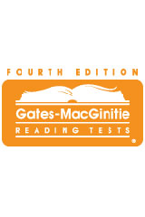 Gates-MacGinitie Reading Tests (GMRT) Hand-Scorable Test Booklets (Form S) Level 1, Package of 25