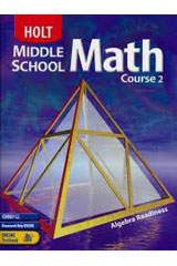 Holt Middle School Math  Student Edition Course 2-9780030650543