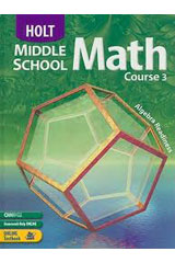 Holt Middle School Math  Homework and Practice Workbook Course 3-9780030651861