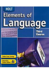 Elements of Language  Language and Sentence Skills Practice Answer Key Third Course-9780030653094