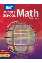 Holt Middle School Math  Alternate Openers: Explorations Transparencies Course 1-9780030662126
