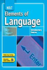 Elements of Language  Holt Online Essay Scoring Introductory Course-9780030664861