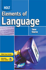 Elements of Language  Student Edition Grade 9-9780030686672