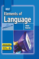Elements of Language  Developmental Language Skills Teacher's Notes and Answer Key Third Course-9780030700712