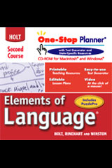 Elements of Language  One-Stop Planner CD-ROM Grade 8-9780030702624