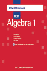 Holt Algebra 1  Know-It Notebook-9780030779237