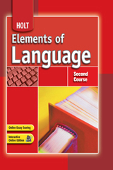 Elements of Language  Student Edition Second Course-9780030796791