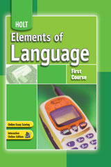 Elements of Language  Annotated Teacher's Edition First Course-9780030796876
